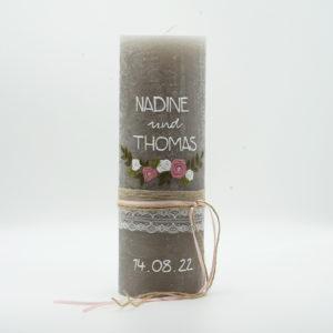 Hochzeit Blumenranke Rosa