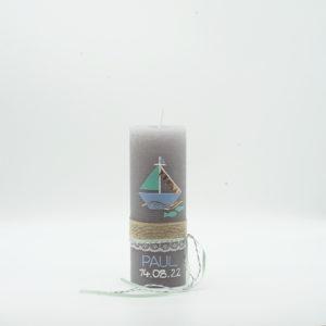 Taufkerze Schiff Mint