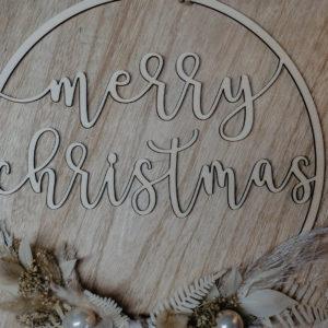 Flowerhoop Merry Christmas