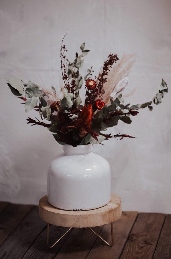 Trockenblumenstrauß Burgund